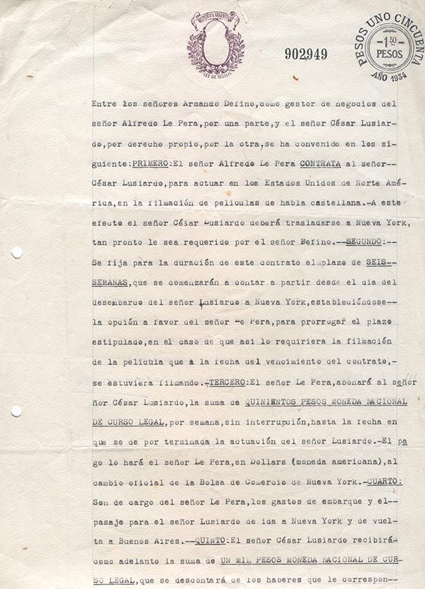 Tito Lusiardo contrato